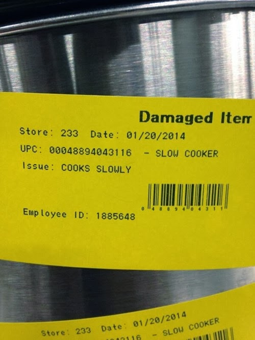 faulty product return label funny not fit for purpose