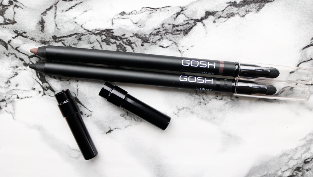 GOSH Infinity Eye Liners in 001 Black and 006 Ash review