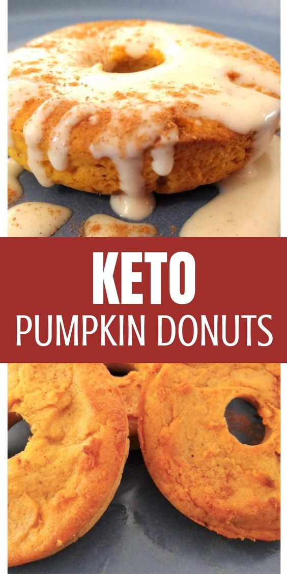 KETO PUMPKIN DONUTS WITH CREAM CHEESE RECIPE