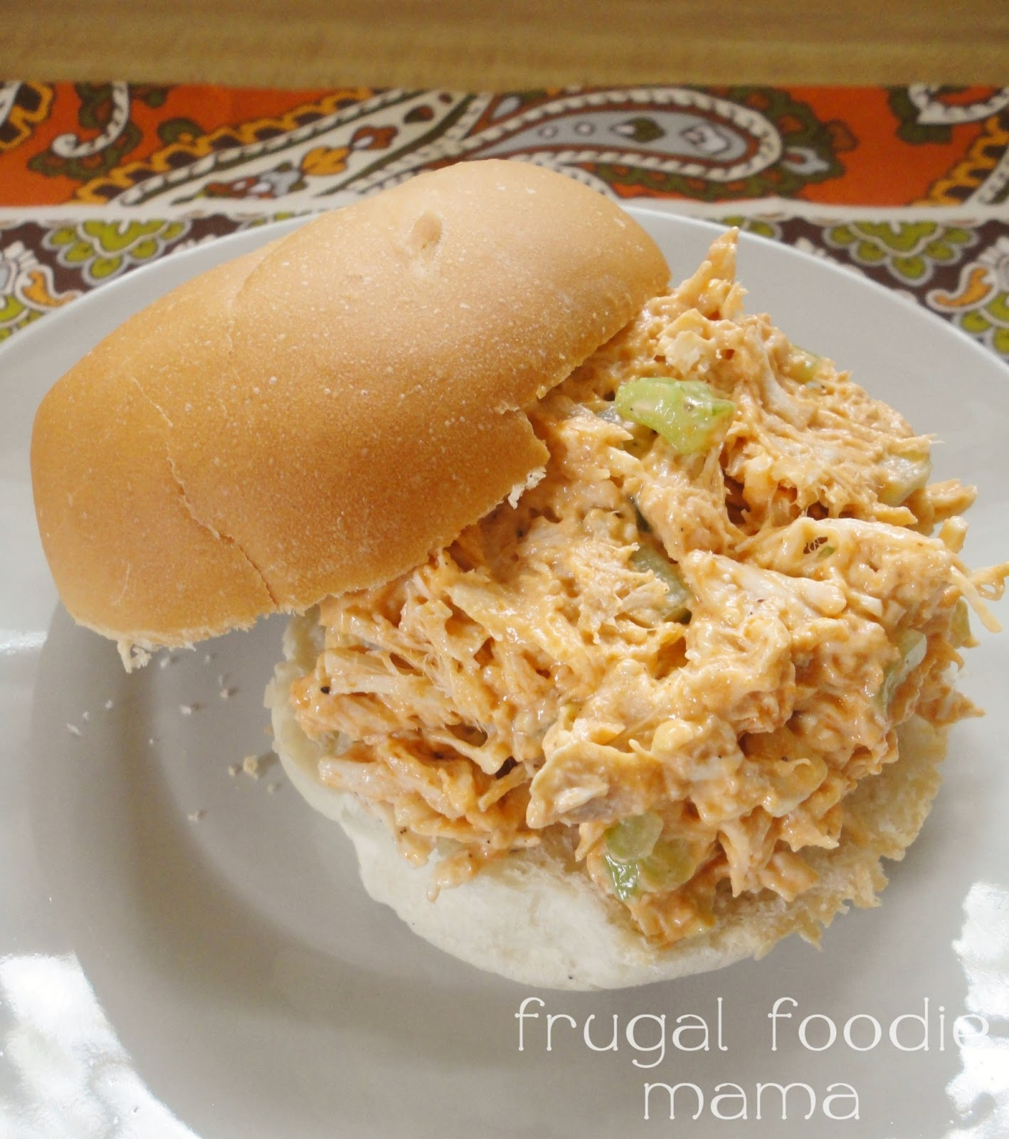 Frugal Foodie Mama Ranch Buffalo Chicken Salad