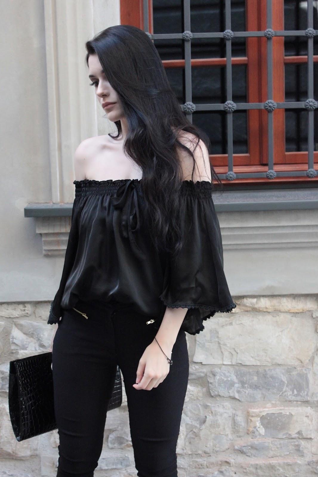minimalizm, total black, stylizacja