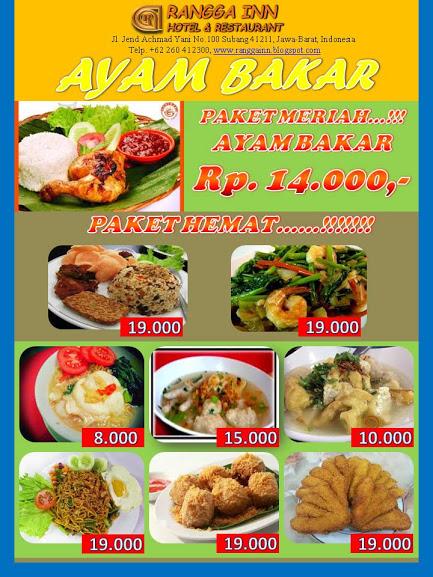 Rangga Inn Hotel Restaurant Wisata Kuliner Subang Jawa Barat