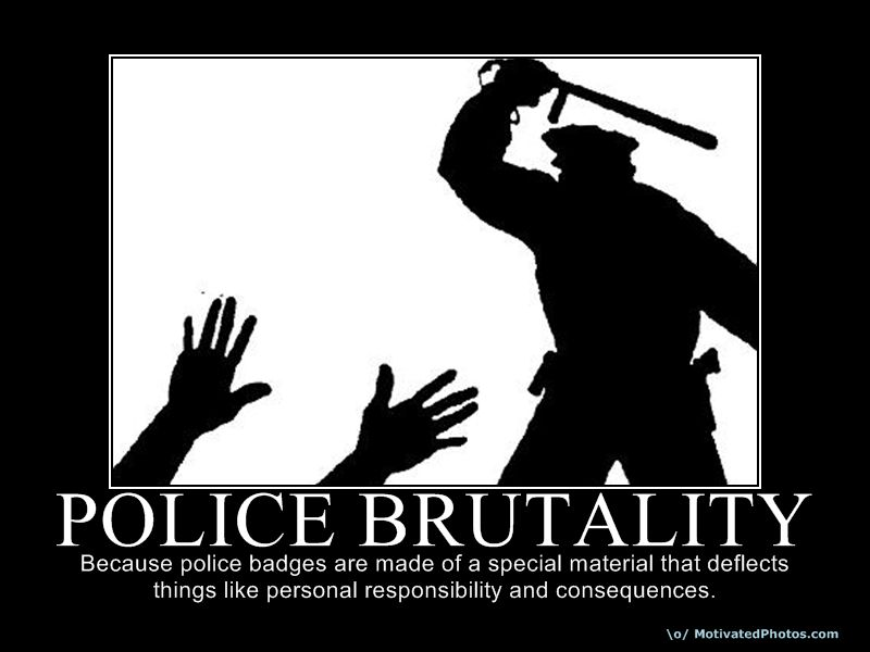 Brutality Police Silhouette