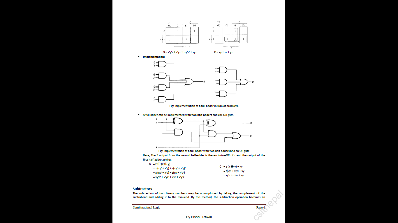 BSc  CSIT: Notes and Question Solutions of DL(Digital Logics)