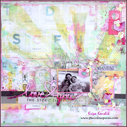 (VIDEO Tutorial) : Mixed media scrapbook background using Gelli plate printing