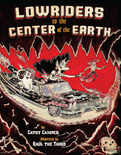 Cover image: Lowriders to the Center of the Earth. The story's three man characters travel in a lowrider automobile through a cavern.