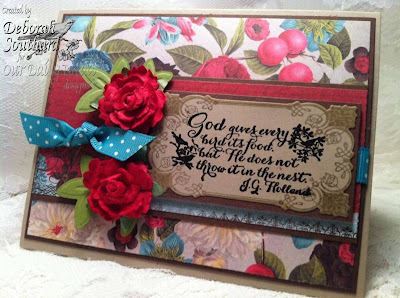 "Our Daily Bread designs ""Brocade Borders"" ""Brocade Borders Die Set"" ""Quote Collection2"" Designer Debi Southard"