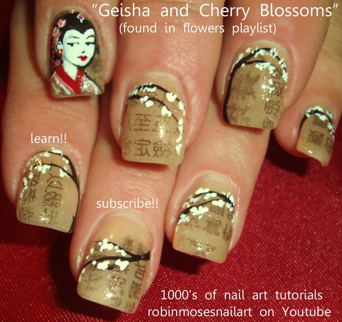 "Robin Moses Nail Art: ""cherry blossom"" ""nail art"" ""cherry ..."