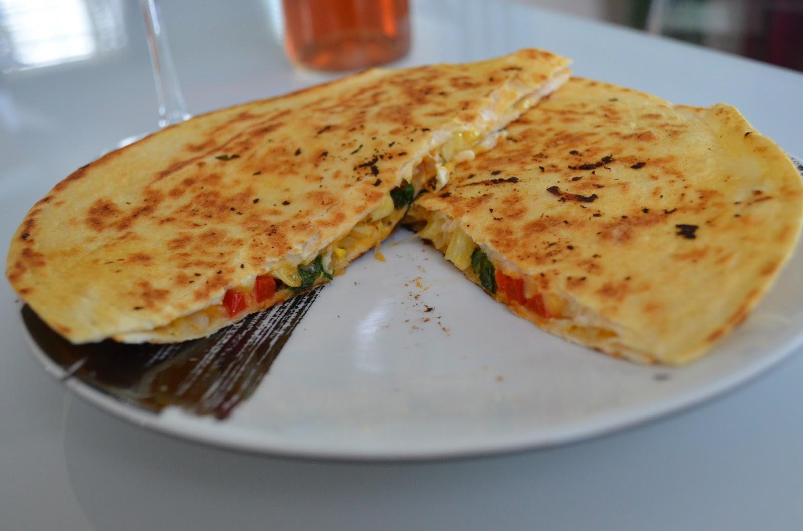 Veggie Cheese Quesadilla