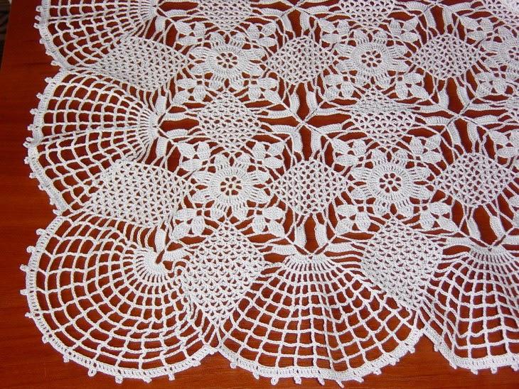 Patrones de Finísimo Mantel hecho con Ganchillo | Crochet y Dos ...