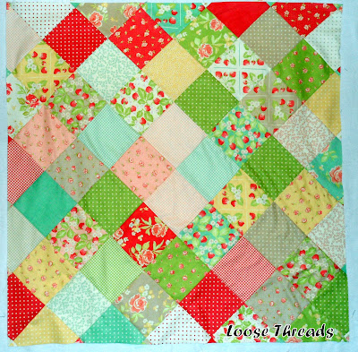 Loose Threads: On Point Quilt from Charm Squares