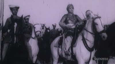 A scene from Jhansi ki rani old movie 1953