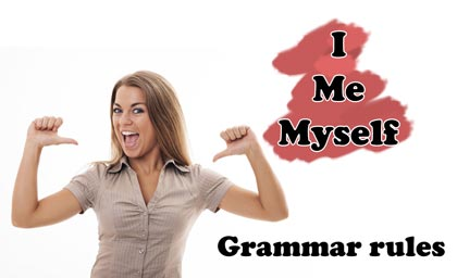 are first person singular pronouns that we often use daily I, Me, and Myself Grammar Rules