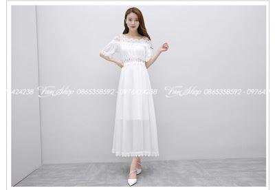 Váy maxi di bien tai Dong Da