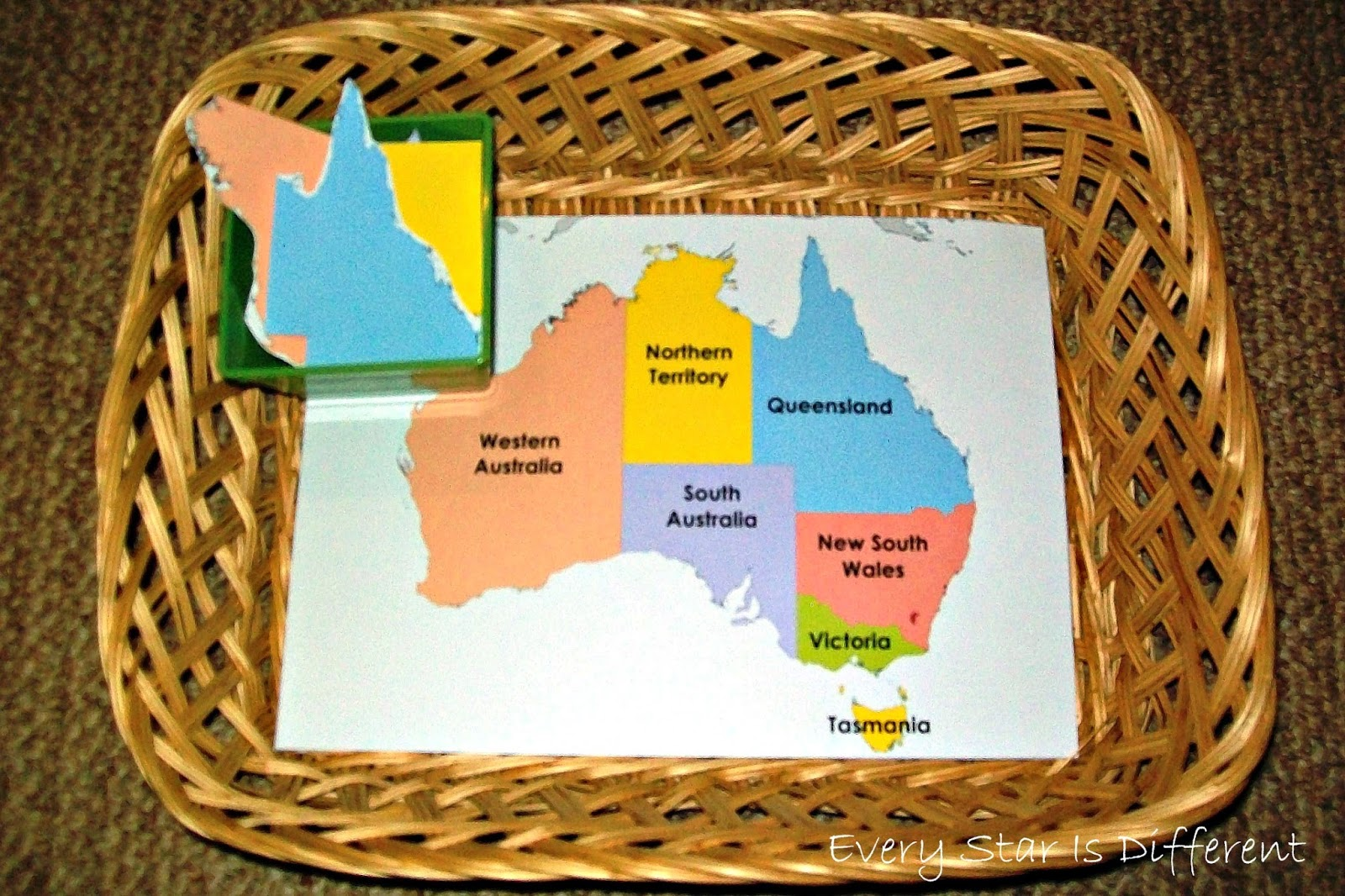 Australia States and Territories (Free Printable)