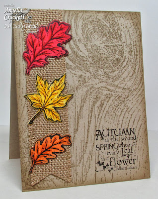 "ODBD ""Autumn Blessings"", ""Wood Background"", ODBD Custom ""Fall Leaves and Acorns"" Die Set, Card Designer Angie Crockett"