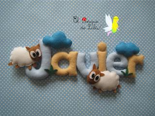nombre-de-fieltro-decoración-infantil-ovejas-regalo-nacimiento-name-banner-elbosquedelulu-hechoamanoparati