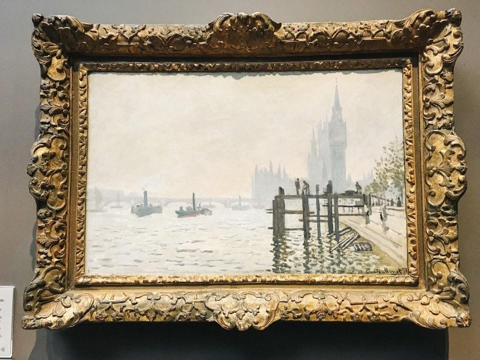 テムズ川と国会議事堂(The Thames below Westminster)1871年頃