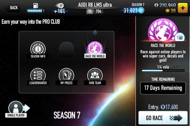 CSR Racing マルチプレイヤー画面