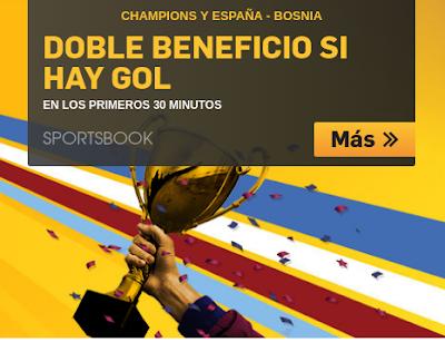 betfair doble cuota España vs Bosnia 29 mayo
