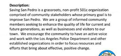 Facebook Group led by George Palaziol and Joanne Rallo Saving San Pedro Description