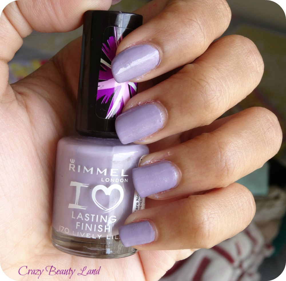 Rimmel I Love Lasting Finish Range Lively Lilac Review