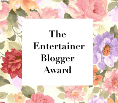 Shine & Glamour: The entertainer Blogger award