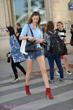 4bb342fb83ee34 L'atelier parisien pour faire son book photo: Les shorts en jean ...