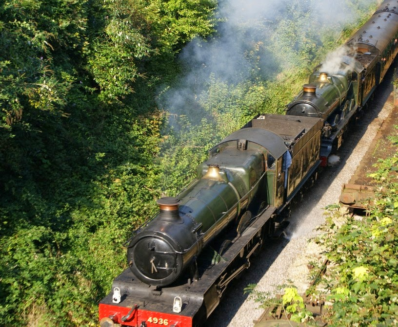 Steam train on Watercress Line in Alton, Hampshire