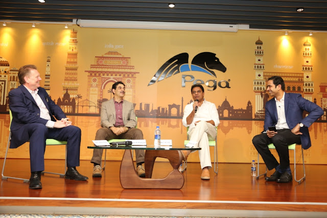 Pegasystems' inaugurates new workspace with unveiling by K.T. Rama Rao