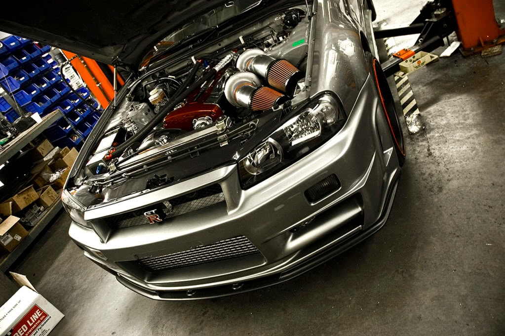 Modified Cars Twin Turbo 1000hp Skyline R34