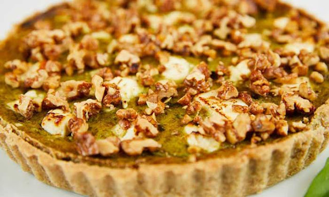 Tamal Ray's foraging recipes: wild garlic pesto and tart; elderflower creme brulee