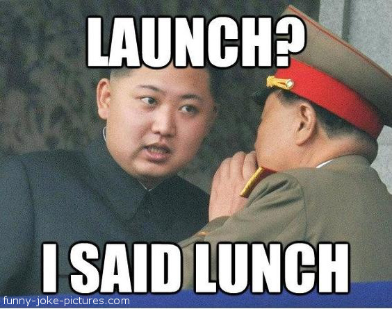 Kim Yong Un Launch Joke Picture