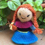 patron gratis muñeca anna frozen amigurumi | anna free frozen pattern amigurumi doll