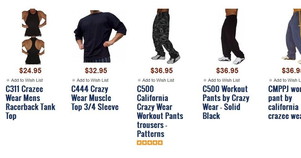 C444 Crazy Wear Gym Top