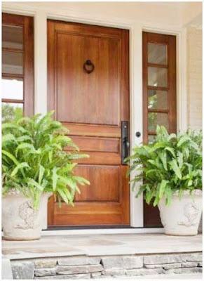 model pintu minimalis kayu murah