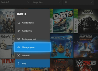 Xbox one Manage game settings