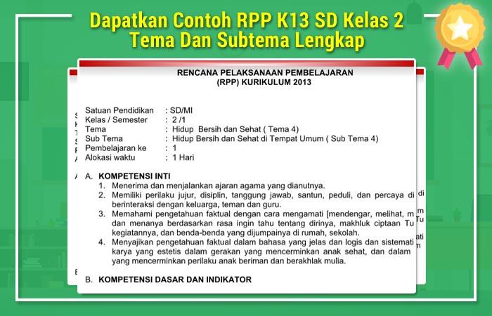 RPP K13 SD Kelas 2