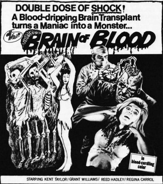 Antiguos anuncios de películas de terror