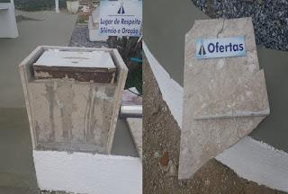 Ladrão furta capela de Nossa Senhora Aparecida em Picuí. VEJA VÍDEO