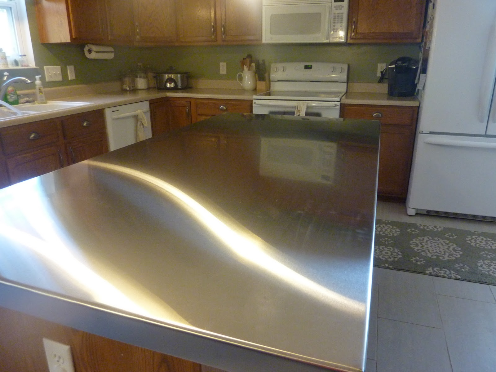 Stainless Steel Countertop Trim Diary Of Regular Moms Stainless Steel Countertops