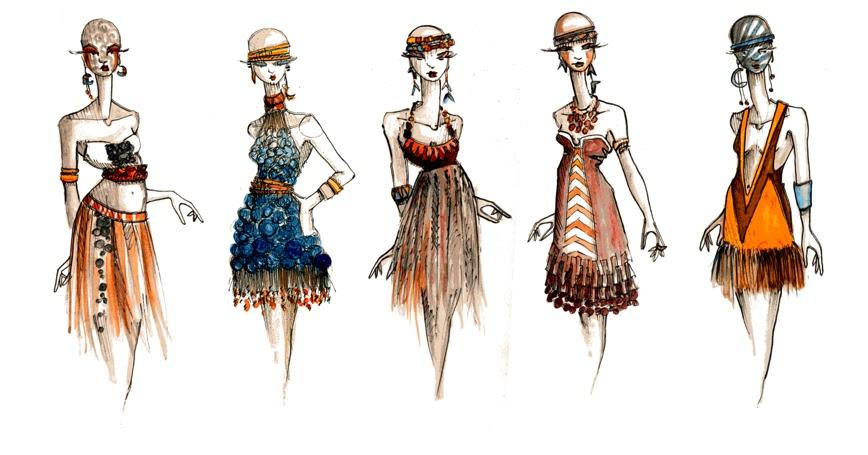 этнические костюмы рисунки распространен