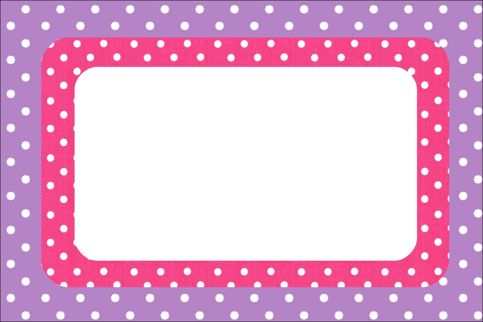 Imprimibles De Lunares Blancos En Fondo Rosa Y Lila