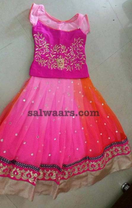 Dual Color Attrcative Lehenga