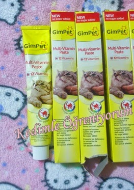 Gimpet Multivitamin Paste - 12 vitamin - Kedi Vitamini