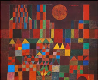 Paul Klee painting - Castle and Sun