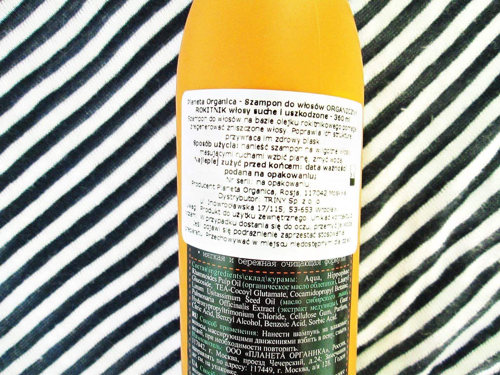 Planeta Organica rosyjski szampon z rokitnikiem
