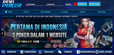 Banner Dewipoker agen judi online