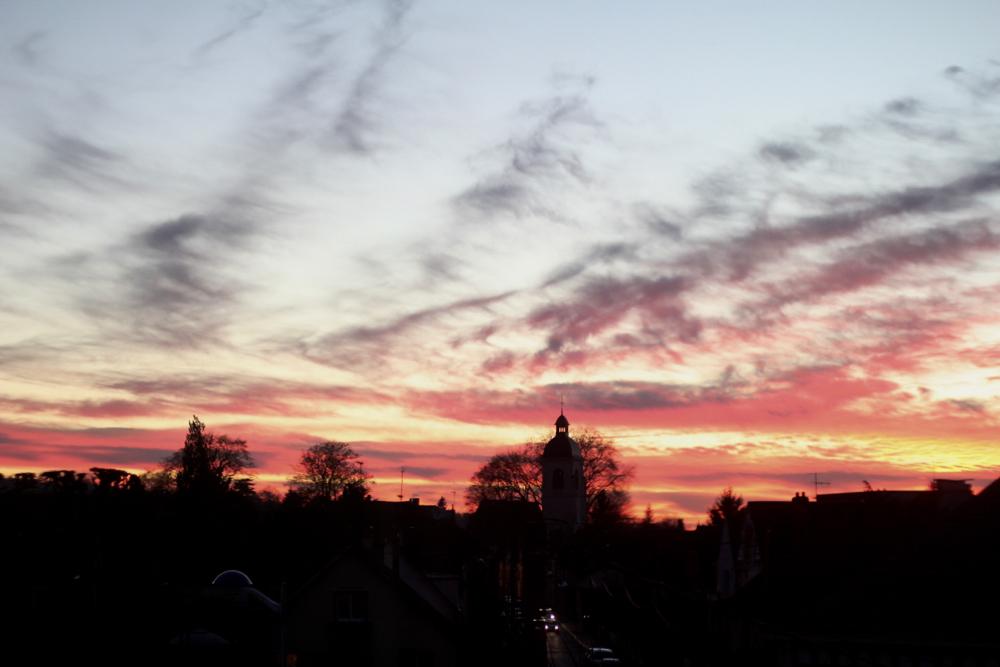 coucher de soleil france centre val de loire