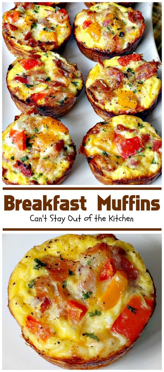 Breakfast Muffins #breakfast #breakfastrecipes #breakfastideas #muffins #breakfastmuffins